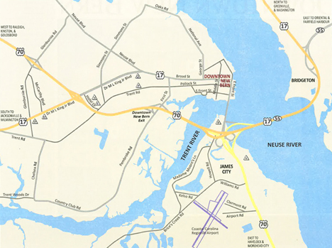 Maps Visit New Bern