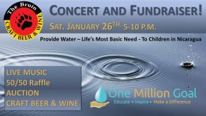 Concert and Fundraiser for One Million Goal @ The Bruin Craft Beer & Wine | New Bern | North Carolina | United States