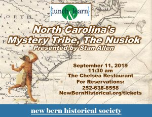 Lunch and Learn: North Carolina's Mystery Tribe, The Neusiok @ The Chelsea Restaurant | New Bern | North Carolina | United States
