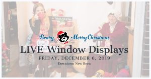 LIVE Window Displays @ Downtown New Bern